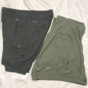 EUC - Columbia - 2 Pair of Hiking Shorts